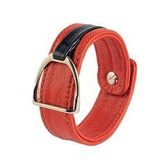 Leather bracelet with stirrup – MANDARIN & BLACK Equestrian, Belt, Bracelets, Leather, Accessories, Black, Fashion, Belts, Moda