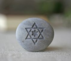 Star of David- engraved stone ready to ship