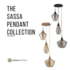 'The Sassa' is a bold 3 light pendant with a circular ceiling base and 3 beautifully tiered glass pendants of varying size and shape. They are available in two colour variations. The Black model has beautiful translucent glass shades. While the Antique Brass version has warming Amber coloured glass shades. The Sassa is a great way to make a design statement in your home with decorative lighting! #pendantlighting #decorativelighting #pendants #decorative #lighting #style #homeinteriors 3 Light Pendant, Pendant Lights, Bold 3, Translucent Glass, Coloured Glass, Decorative Lighting, Amber Color, Glass Pendants, Light Decorations