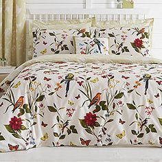 Botanical Bird Bedspread #kaleidoscope #bedding