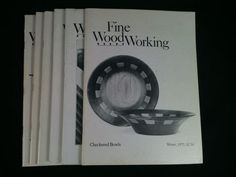Vintage Fine WoodWorking Magazines Lot 7 1975 1978 1984 Back Issues DIY