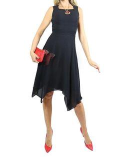 GIVENCHY Black Dressy Silk Dress.36 $550  http://www.boutiqueon57.com/products/givenchy-black-dressy-silk-dress-36
