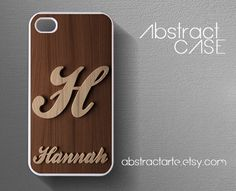 Personalised+Engraved+Wooden+Print+IPHONE+5+CASE++by+abstractARTE,+$15.00