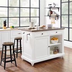 Stools For Kitchen Island, Large Kitchen Island, Kitchen Tops, New Kitchen, Kitchen Decor, Kitchen Cart, Kitchen Ideas, Kitchen Islands, Kitchen Hacks
