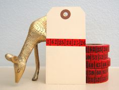 Vintage Ledger Washi Tape - red with black numbers : {Black & Red : for Sony Vaio E Series notebooks : www.sony.com.au }