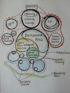 Psychiatric center bubble diagram-serrauludag
