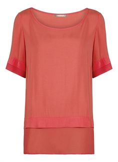 Sandwich Double Layer Top - Coral £69 available at www.lbdboutique.co.uk style number 1521510201