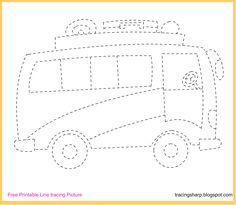Free Tracing Line Printable Bus Picture cakepins.com