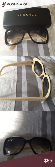 Versace sunglasses Beautiful two tone Versace sunglasses - great condition comes with case - no trades Versace Accessories Sunglasses
