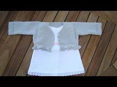 Como tejer a CROCHET una rebeca de bebe TODAS LAS TALLAS (diestro) - YouTube