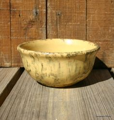 Yellow Spongeware Bowl