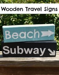 Wooden Travel Signs: on DIY and Craft
