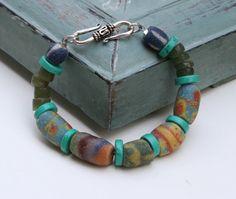 African Trade Bead Earthy Rustic MultiColored by MissieRabdau, $50.00