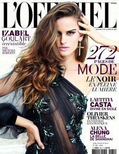 L'Officiel Paris Octobre 2012.   Izabel Goulart by Michael Roberts Styling Monica Pillosio.