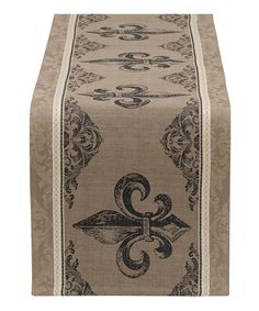 This Fleur-de-Lis Stripe Jacquard Table Runner by Design Imports is perfect! #zulilyfinds