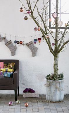 Bare Trees Decorating for Christmas | 10 Unique Christmas Tree Decorating Ideas