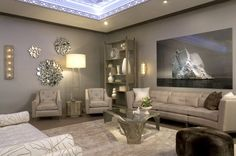 """Silas Seandel's authentic """"Duomo Pewter Wash Coffee Table"""" in a living room by Charles Pavarini III Design"""