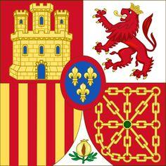 Estandarte de Heraldica Real del Rey Emérito Juan Carlos I
