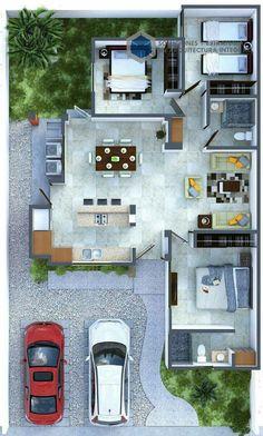 30 x 60 House Plans Vastu For West Facing House Plan Part 19 House Layout Plans, Duplex House Plans, Dream House Plans, Small House Plans, House Layouts, Bungalow House Design, Small House Design, Modern House Design, Modern Homes