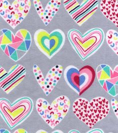 Snuggle Flannel Fabric-Scribbled Hearts
