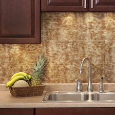 The backsplash panels are easy to install and can be cut with a scissors or tin snips to create the fit that you require. This kit includes everything that you need to create a lovely tile pattern in your kitchen or bathroom.