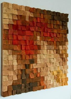 Large Wooden Wall Art large wood wall art, wood mosaic, geometric art, large art