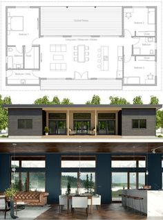 House Design, Home Plans, House Plans, Floor Plans Building A Container Home, Container House Plans, Modern House Plans, Small House Plans, Modular Home Floor Plans, Modern Floor Plans, Casas Containers, Concept Home, Shipping Container Homes