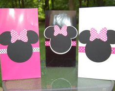 Minnie Mouse Inspired Pink Black and White Theme by PoppinParties