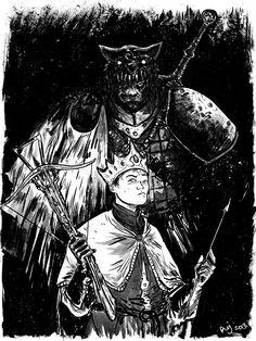 Joffrey and the Hound by Daniel Johnson  #got #agot #asoiaf