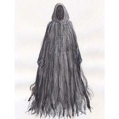 """CBT """"A Christmas Carol"""" Costume Renderings Act II Ghost of Christmas Yet to Come                                                                                                                                                     More"""