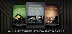#SylviaDay #Giveaway – Win Any 3 Sylvia Day Novels You Want! #kindle