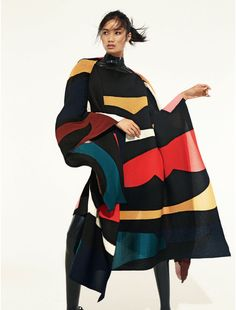 """Leaf Zhang in """"The Print Revolution"""" by Mark Pillai for ELLE UK, October 2014 See more from this set here."""