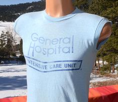 vintage 70s t-shirt GENERAL HOSPITAL icu tank top sleeveless tee Small XS soft thin