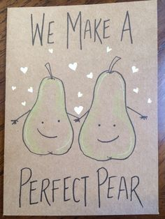 We make a perfect pair card