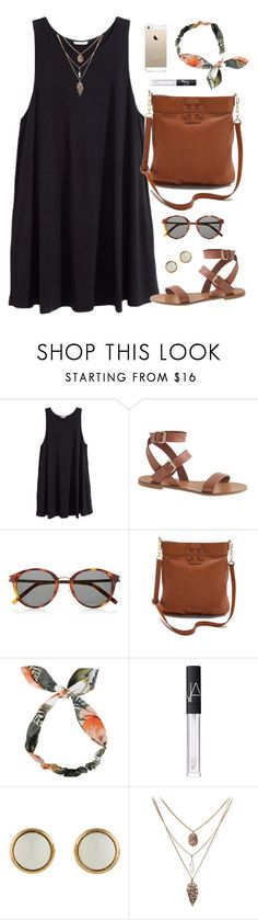 """headband"" by classically-preppy ❤️ liked on Polyvore featuring H&M, J.Crew, Yves Saint Laurent, Tory Burch, NARS Cosmetics and Hermès"