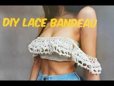 I hope you enjoy this tutorial, I'm in love with this top Thanks for being patient for more tutorials I've been so busy. If you have any requests . Crochet Bandeau Tops, Shorts Crochet, Crochet Bikini Pattern, Crochet Summer Tops, Crochet Bikini Top, Lace Bandeau, Crochet Clothes, Knit Crochet, Swimsuit Pattern