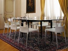 Diva 2200 - Stühle für die Küche, in der Farbe Leinen und Rückenlehne transparent