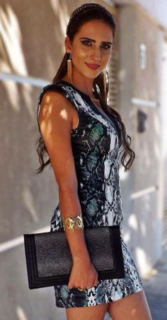 HILUS / ESTILO #Hilus - animal print dress
