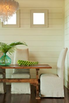 House Tour:  Sullivan's Island  How about brussels sprouts as a flower arrangement?!