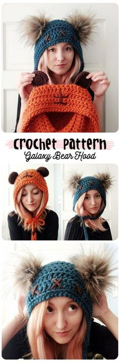 cute bear hood hat that is for grown ups