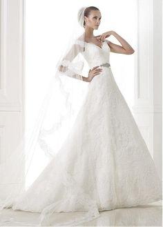 CHARMING TULLE A-LINE OFF SHOULDER NECKLINE NATURAL WAISTLINE WEDDING DRESS IVORY WHITE LACE BRIDAL GOWN HANDMADE CUSTOM