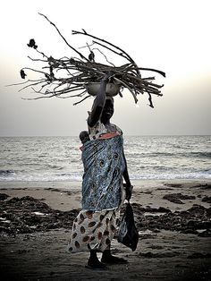 Beach walk, Sénégal   • Jeff Attaway