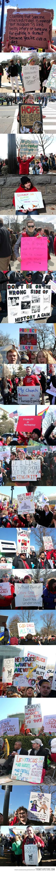 Best signs against anti-gay marriage laws…