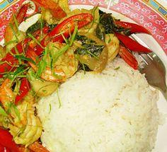 Thai Food Recipe: Green Curry and Stir Fried Shrimp