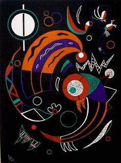Comets, Oil by Wassily Kandinsky (1866-1944, Russia)