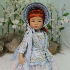 "MHD Designs ""Pays Des Oiseaux BLEUS"" OOAK for Dianna Effner's Little Darlings   byMagalie at vtdawson eBay SOLD 5/22/14  $613.00"