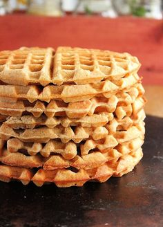 """Whole Wheat Maple Sugar Waffles – Light, crispy whole wheat waffles made with maple sugar. Great for breakfast and will freeze great for future eating. INGREDIENTS NEEDED: Whole wheat flour White flour Baking powder + salt + ground cinnamon Maple sugar Butter Milk Eggs Flours: When using whole wheat flour, I do prefer to use a combination of white and whole wheat. It cuts back on being too """"wheaty"""". However, if you wish to use 2 full cups of whole wheat or a whole wheat white flour, those will a"""