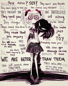Lol my inner demons are worst-sdcupcakes Inner Demons, My Demons, Angst Quotes, Manga Anime, Anime Art, Sad Anime Quotes, Creepypasta Quotes, Dark Quotes, Sad Art