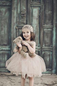 Halter tutu dress. Flower Girl Tulle Dress with por AylinkaShop
