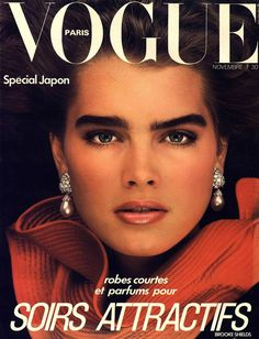 Brooke Shields  -  Vogue Paris Nov 1982 by Albert Watson